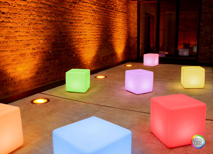 Divertido cubo led multi color iluminaci n y decoraci n - Iluminacion con led para el hogar ...