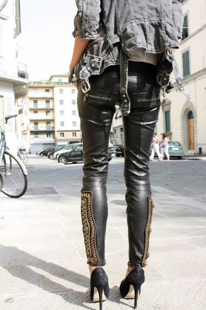 Wishlist Balmain leather pants from trendsforthemasses.blogspot.com