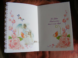 Gillians thank you card inside