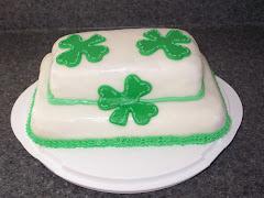 Shamrock Cake Back