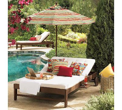 havuz+kenar%C4%B1nda Dış mekanlar için bahçe mobilyaları