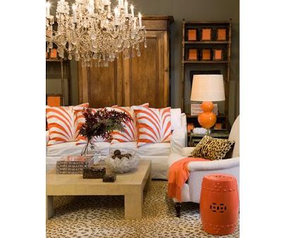 Turuncu+oda Dekorasyonda doğru renk seçimi