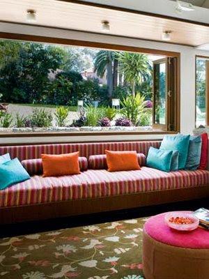renkli+kanepe dekorasyonda renk kullanımı