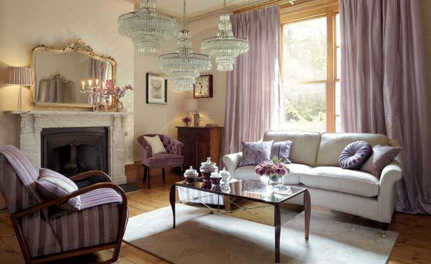 Mor renkle dekorasyon nerileri mobilya modelleri ve - Decoracion de salones estilo vintage ...