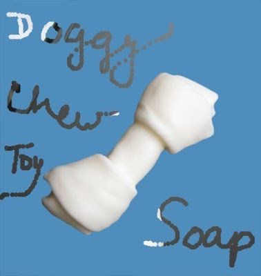 Doggy chew toy soap