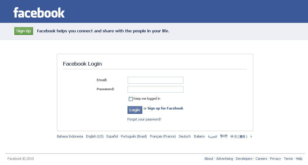 free fb log in