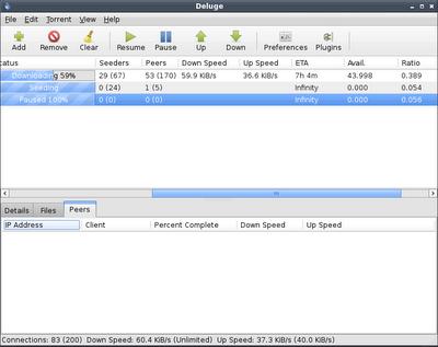 Deluge Screenshot