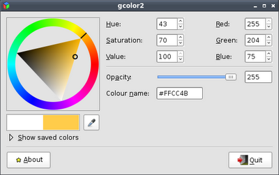 GColor2 Screenshot
