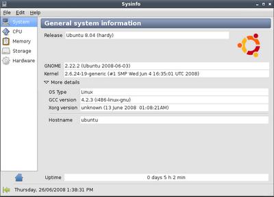 Sysinfo Screenshot