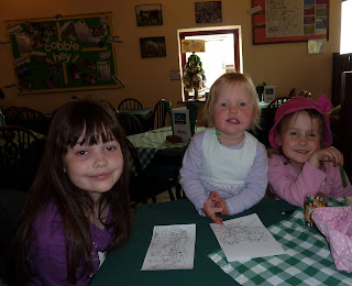 In the Cafe at Cobble Hey Farm & Gardens: L-R Holly, Megan, Rosie