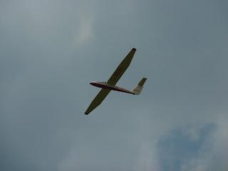 Glider circling Parlick