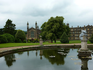 St Peter's Church and Stonyhurst College from the gardens