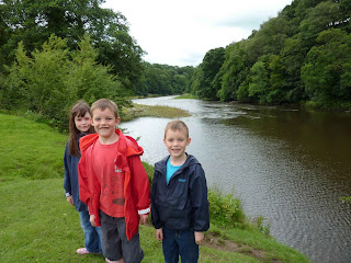 Hol, Rob and Chris by the Ribble