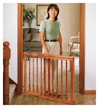 Evenflo Company 1555 Harvest Oak Home Decor Stair Gate