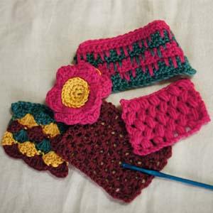 レッドハート・バンブーウール・crochet