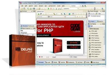 Delphi for PHP fornece ambos pontos de vista do design e código PHP aplicaç