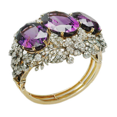 amethyst and diamond bangle @ máriel's castle