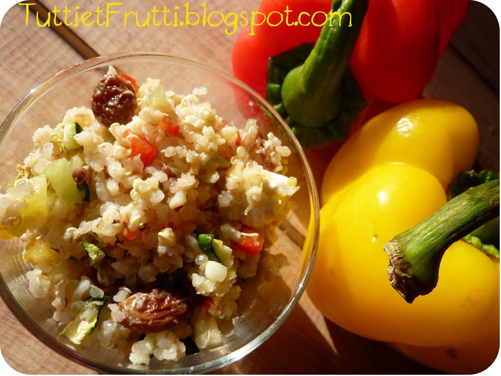 tutti et frutti il tait une fois une salade de quinoa aux l gumes du soleil. Black Bedroom Furniture Sets. Home Design Ideas