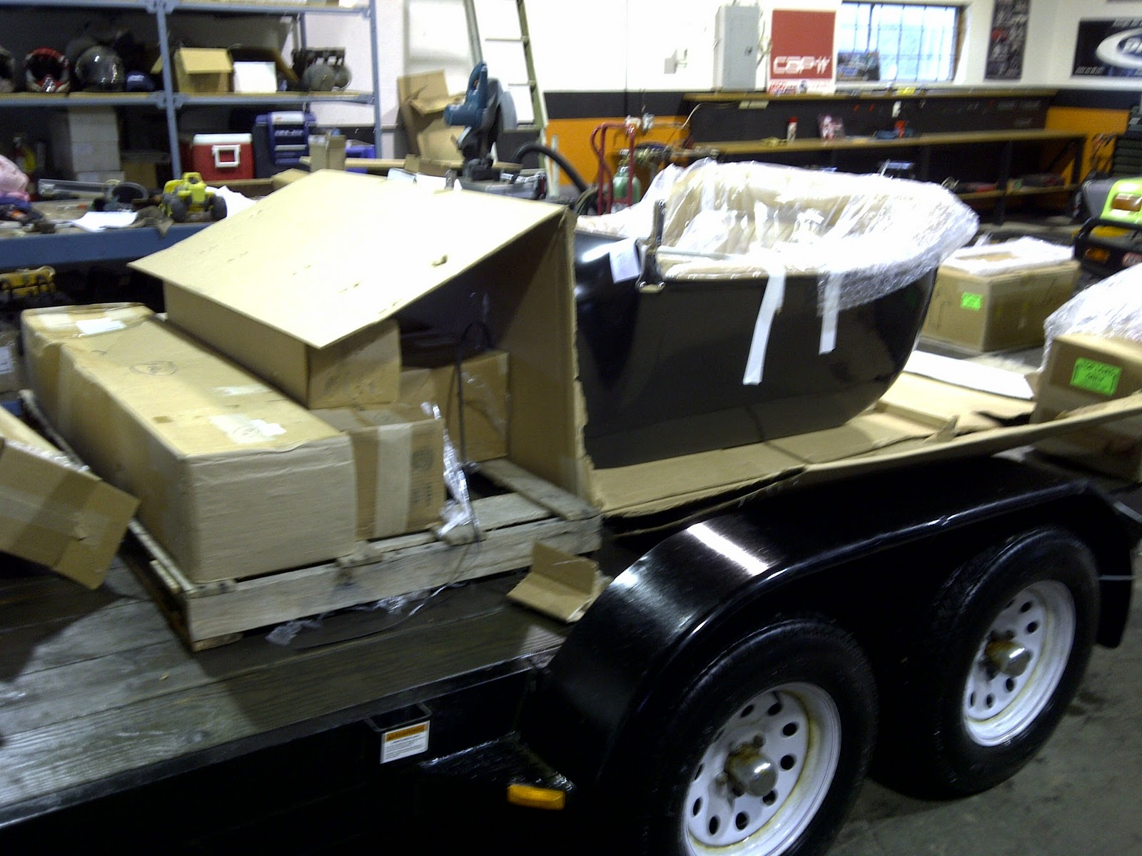 Cap-it Ford T-Bucket Hot Rod: The Hot Rod Frame and Body arrived
