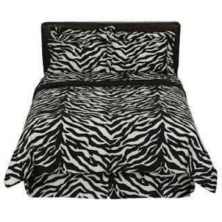 Target zebra bedding