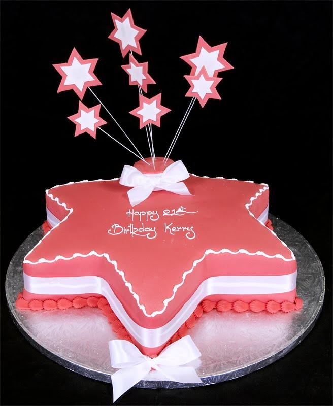 Pink Star Birthday Cake