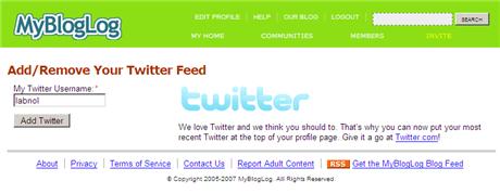 After Flickr Pictures, MyBlogLog Adds Twitter