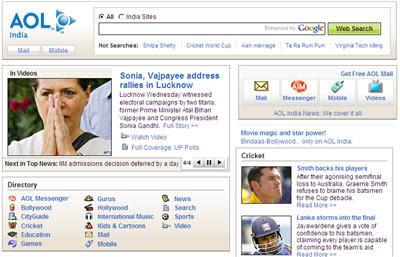 AOL India Portal AOL.IN