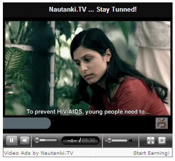 Monetize Blogs With Indian Audience using Nautanki.tv