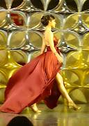 Lindo vestido de quinceañera con un escote corazón