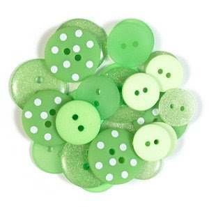 Second thoughts theme thursday button - Green button ...