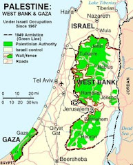 Current Map of Occupied Palestine