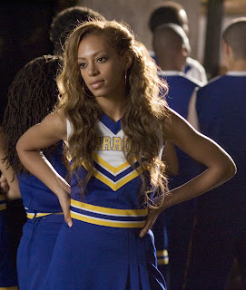Solange Knowles in the cheerleader outfit for the first time