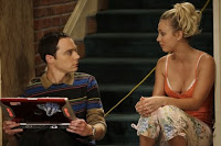 Sheldon Cooper and Penny of the Big Bang theory