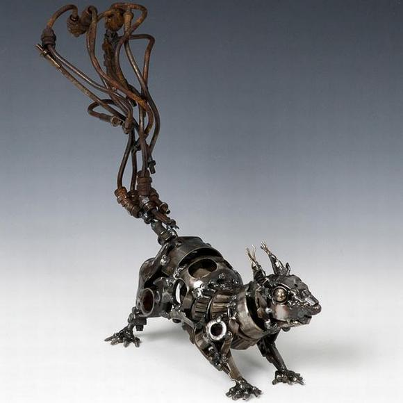 11 amazing Sculptures made By Car Parts 12