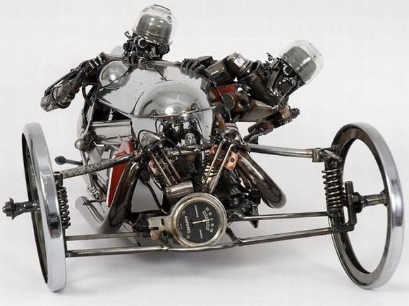 11 amazing Sculptures made By Car Parts 5