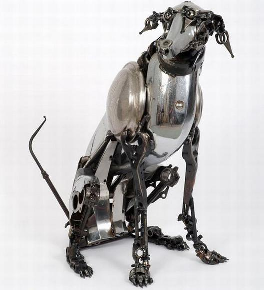 11 amazing Sculptures made By Car Parts 4