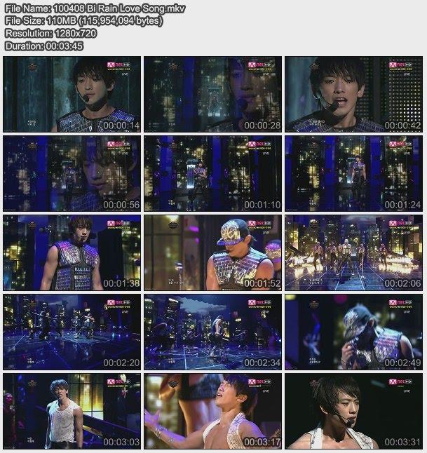 [100408] Bi (Rain) - Love Song & Hip Song [234M/avi] 100408+Bi+Rain+Love+Song