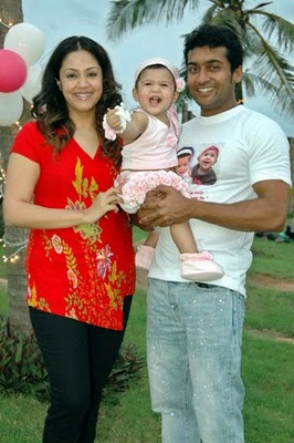 Surya, Jothika and baby