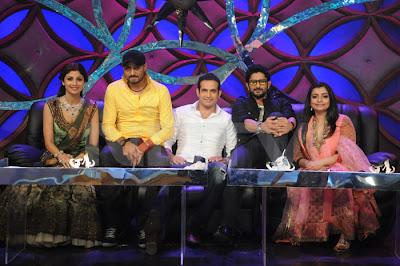 Silpa Shetty, Vaibhavi Merchant and Arshad Warsi