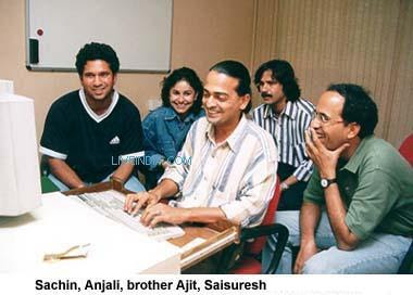 Sachin and his brother Ajit