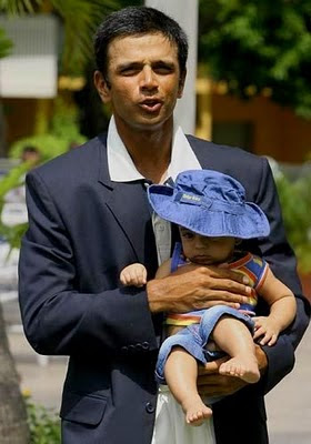 Rahul Dravid and his son Samit photos