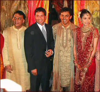 Sachin in Rohit marriage