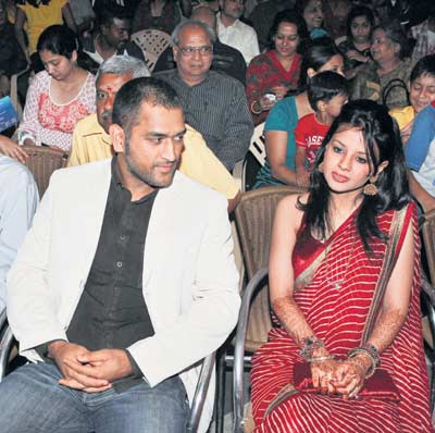 Dhoni and Sakshi Rawat rare stills