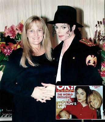 Michael Jackson with wife Rowe photo