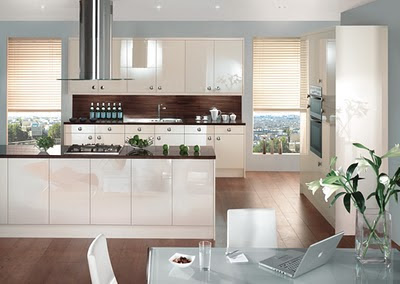 Gloss Oyster - Modern Kitchen