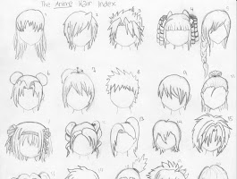 Draw Female Anime Hair Drawings