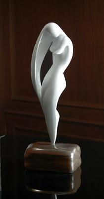 """Luna"" in Handcast Marble"