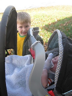 stroller ride in the sun