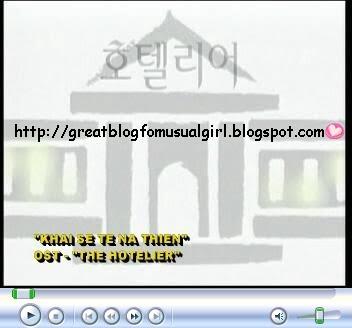 """Sœurs de Cendrillon: lirik lagu Drama Korea """" HOTELIER"""""""