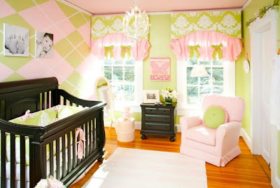 Lamb Baby Room on Baby Room Green And Pinkbaby Room Decals
